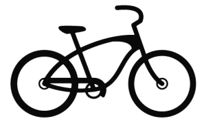 Black Cruiser Bike Icon