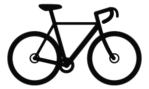 Black Cyclocross Bike Icon