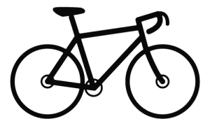 Black road bike icon